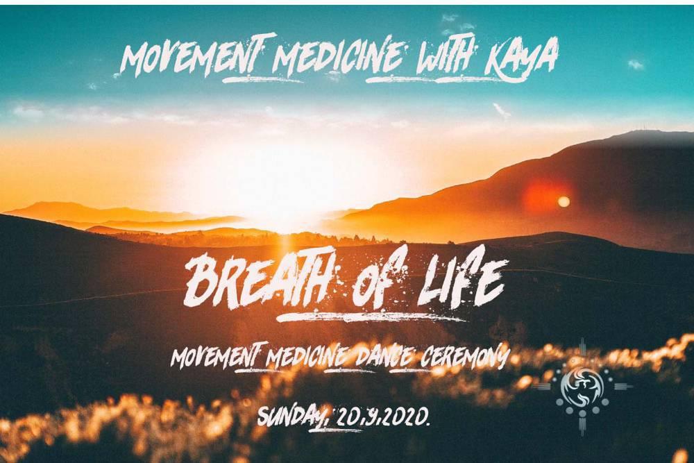 Movement Medicine plesna ceremonija: DAH ŽIVOTA
