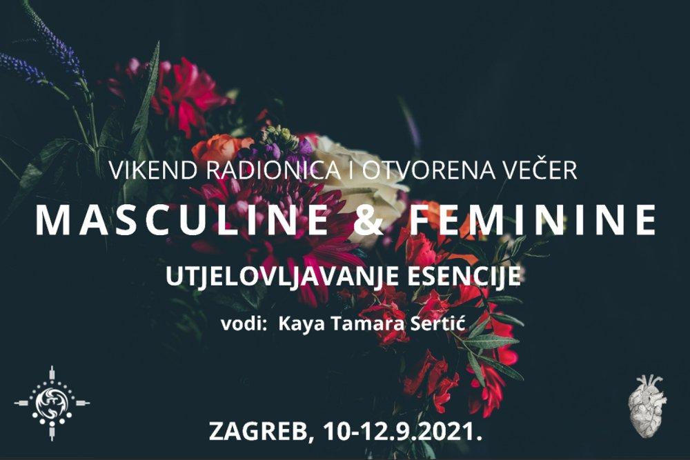 MASCULINE & FEMININE – Vikend radionica & ceremonija, 10.-12.09.2021.